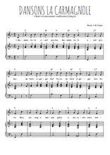 Téléchargez la partition de Dansons la carmagnole en PDF pour Chant et piano