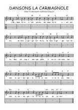 Téléchargez la tablature de la musique Traditionnel-Dansons-la-carmagnole en PDF