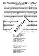 Téléchargez l'arrangement de la partition de Traditionnel-Der-Fruhling-hat-sich-eingestellt en PDF à trois voix