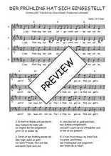 Téléchargez l'arrangement de la partition de Traditionnel-Der-Fruhling-hat-sich-eingestellt en PDF à quatre voix