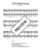 Téléchargez l'arrangement de la partition de Traditionnel-Der-Kirschbaum en PDF à deux voix