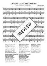 Téléchargez l'arrangement de la partition de Traditionnel-Der-Mai-ist-gekommen en PDF à deux voix