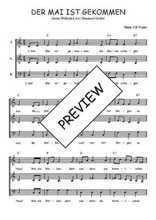 Téléchargez l'arrangement de la partition de Traditionnel-Der-Mai-ist-gekommen en PDF à trois voix