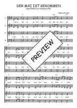 Téléchargez l'arrangement de la partition de Traditionnel-Der-Mai-ist-gekommen en PDF à quatre voix
