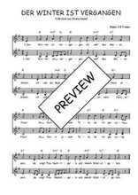 Téléchargez l'arrangement de la partition de Traditionnel-Der-Winter-ist-vergangen en PDF à deux voix