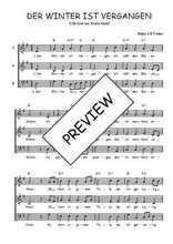 Téléchargez l'arrangement de la partition de Traditionnel-Der-Winter-ist-vergangen en PDF à trois voix