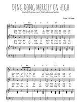 Téléchargez la partition de Ding dong merrily on high en PDF pour 2 voix égales et piano