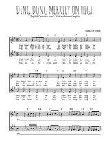 Téléchargez l'arrangement de la partition de noel-ding-dong-merrily-on-high en PDF à deux voix