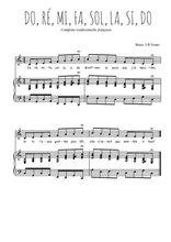 Téléchargez la partition de Do, ré, mi, fa, sol, la, si, do en PDF pour Chant et piano