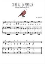 Téléchargez la partition de Do ré mi la perdrix en PDF pour Chant et piano
