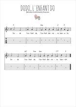 Téléchargez la tablature de la musique berceuse-dodo-l-enfant-do en PDF