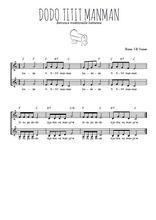 Téléchargez l'arrangement de la partition de Traditionnel-Dodo-titit-manman en PDF à deux voix