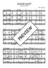Téléchargez la partition de Douce nuit en PDF pour 2 voix égales et piano