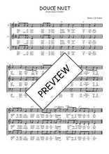 Téléchargez l'arrangement de la partition de noel-douce-nuit en PDF à trois voix
