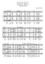 Téléchargez l'arrangement de la partition de noel-douce-nuit en PDF pour trois voix d'hommes
