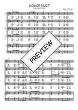 Téléchargez la partition de Douce nuit en PDF pour 4 voix SATB et piano