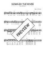 Téléchargez l'arrangement de la partition de Traditionnel-Down-by-the-river en PDF à deux voix