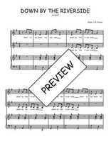 Téléchargez la partition de Down by the riverside en PDF pour 2 voix égales et piano
