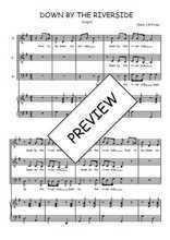 Téléchargez la partition de Down by the riverside en PDF pour 3 voix SAB et piano
