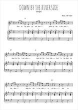 Téléchargez la partition de Down by the riverside en PDF pour Chant et piano