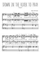 Téléchargez la partition de Down in the river to pray en PDF pour 3 voix SAB et piano