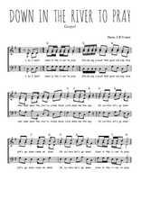 Téléchargez l'arrangement de la partition de gospel-down-in-the-river-to-pray en PDF à trois voix