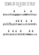 Téléchargez la partition pour saxophone en Mib de la musique gospel-down-in-the-river-to-pray en PDF