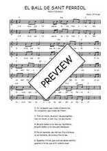 Téléchargez l'arrangement de la partition de Traditionnel-El-ball-de-Sant-Ferriol en PDF à deux voix