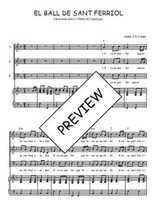 Téléchargez la partition de El ball de Sant Ferriol en PDF pour 3 voix SAB et piano