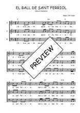 Téléchargez l'arrangement de la partition de Traditionnel-El-ball-de-Sant-Ferriol en PDF à trois voix