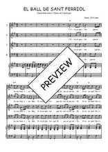 Téléchargez la partition de El ball de Sant Ferriol en PDF pour 4 voix SATB et piano