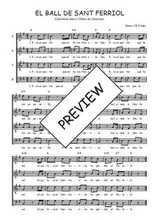 Téléchargez l'arrangement de la partition de Traditionnel-El-ball-de-Sant-Ferriol en PDF à quatre voix