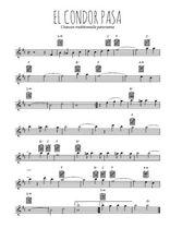 Téléchargez la partition pour saxophone en Mib de la musique perou-el-condor-pasa en PDF
