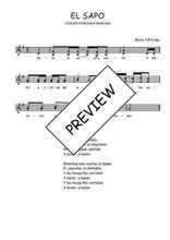 Téléchargez l'arrangement de la partition de Traditionnel-El-sapo en PDF à deux voix