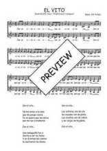Téléchargez l'arrangement de la partition de Traditionnel-El-vito en PDF à deux voix