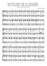 Téléchargez la partition de En passant par la Lorraine en PDF pour 2 voix égales et piano