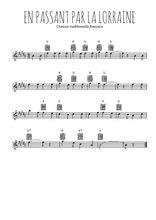 Téléchargez la partition pour saxophone en Mib de la musique comptine-en-passant-par-la-lorraine en PDF