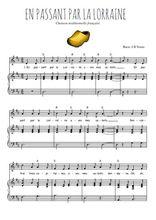 Téléchargez la partition de En passant par la Lorraine en PDF pour Chant et piano