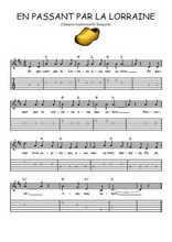 Téléchargez la tablature de la musique comptine-en-passant-par-la-lorraine en PDF