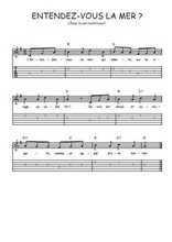Téléchargez la tablature de la musique Traditionnel-Entendez-vous-la-mer en PDF
