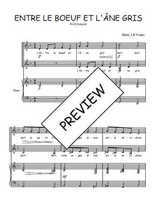 Téléchargez la partition de Entre le boeuf et l'âne gris en PDF pour 2 voix égales et piano