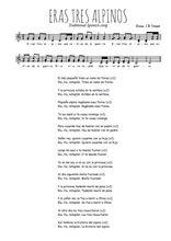 Téléchargez l'arrangement de la partition de Traditionnel-Eran-tres-alpinos en PDF à deux voix