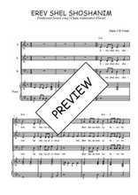 Téléchargez la partition de Erev en PDF pour 3 voix SAB et piano