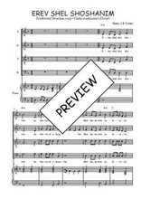 Téléchargez la partition de Erev en PDF pour 4 voix SATB et piano