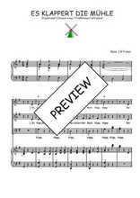 Téléchargez la partition de Es klappert die Mühle en PDF pour 3 voix SAB et piano