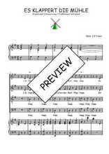 Téléchargez la partition de Es klappert die Mühle en PDF pour 4 voix SATB et piano