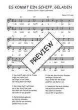 Téléchargez l'arrangement de la partition de Traditionnel-Es-kommt-ein-Schiff-geladen en PDF à deux voix