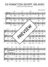 Téléchargez l'arrangement de la partition de Traditionnel-Es-kommt-ein-Schiff-geladen en PDF à trois voix