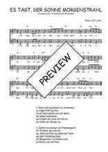 Téléchargez l'arrangement de la partition de Traditionnel-Es-tagt-der-Sonne-Morgenstrahl en PDF à deux voix