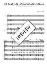 Téléchargez la partition de Es tagt der Sonne Morgenstrahl en PDF pour 3 voix SAB et piano